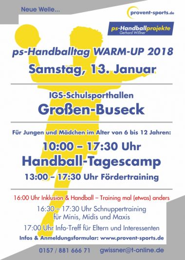 provent sports Warm-up Infotag